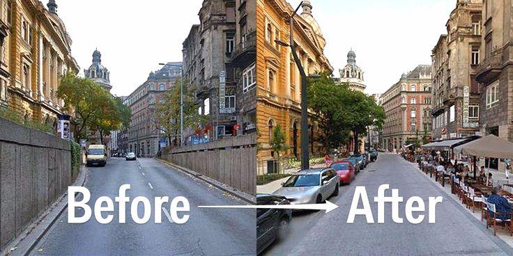 41 Amazing Public Space transformations captured by Google Street View #landarch #urbandesign #trafficreduction #peymim #kentseltasarım