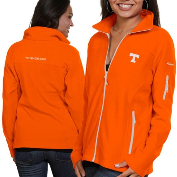 Columbia Tennessee Volunteers Ladies Give And Go Fleece Full Zip Jacket - Tennessee Orange