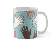 Nail Expert Studio - Colorful Manicured Hands Pattern Mug