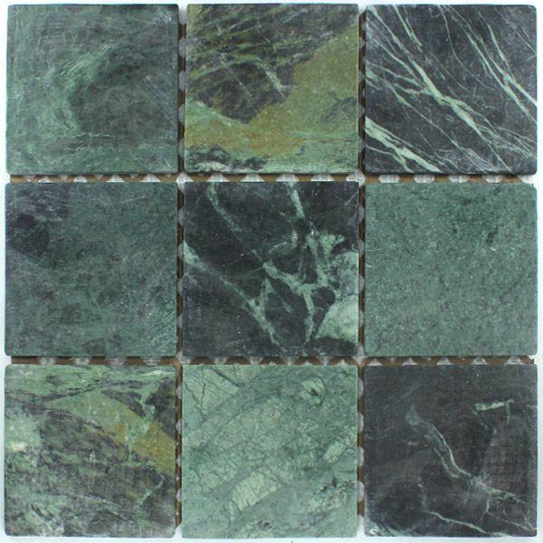 Marmor Mosaik Fliesen 98x98x8mm Verde Grün