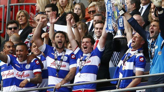 QPR substitute Bobby Zamora struck a dramatic 90th-minute winner as 10-men Rangers made an immediate return to the Premier League by defeating Derby in an absorbing play-off final at Wembley.