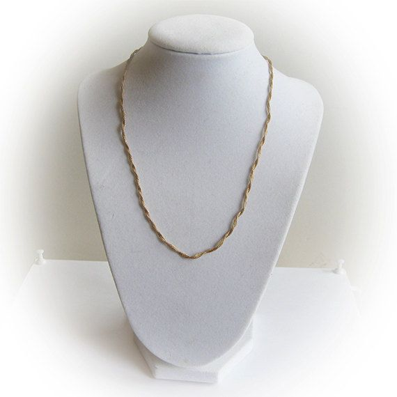 16 inch 14 K Twisted Gold Rope Chain