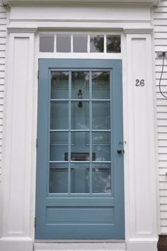 This looks like my storm door. Like what they've done with the hardware and matching paint with the main door.
