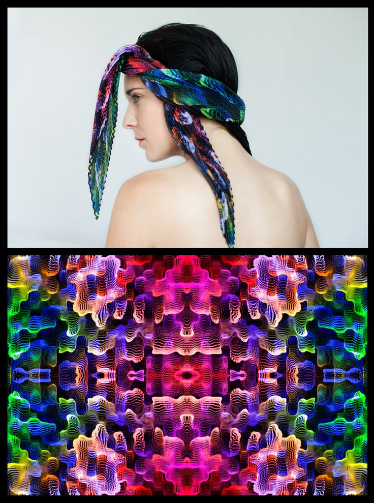 Pointillisme Scarves Collection_ Jorge Ayala Paris X Alessio Erioli by Alicia Henderson