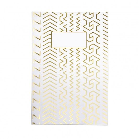 Urban Outfitters Gold Geometric A4ish Notebook at http://www.ohhdeer.com