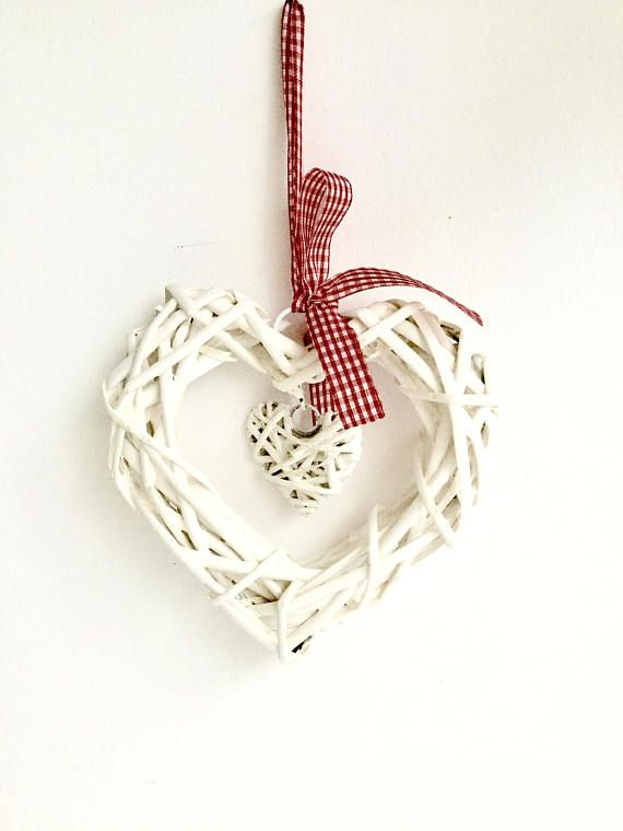 rattan hanging heart white rattan heart decoration