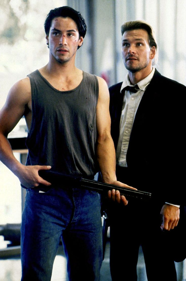 Keanu Reeves and Patrick Swayze