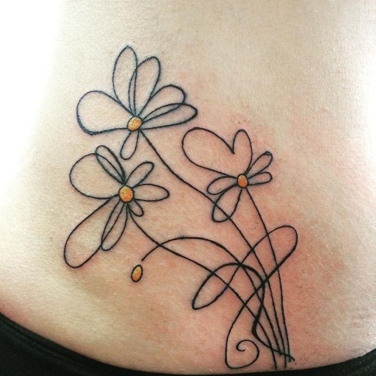 cool Top 100 daisy tattoos - http://4develop.com.ua/top-100-daisy-tattoos/ Check more at http://4develop.com.ua/top-100-daisy-tattoos/
