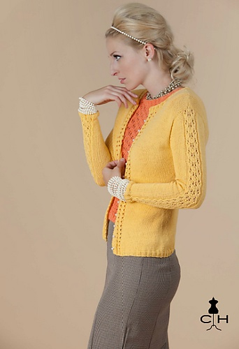 Highclere Cardigan pattern from The Sexy Knitter for Clotheshorse Magazine