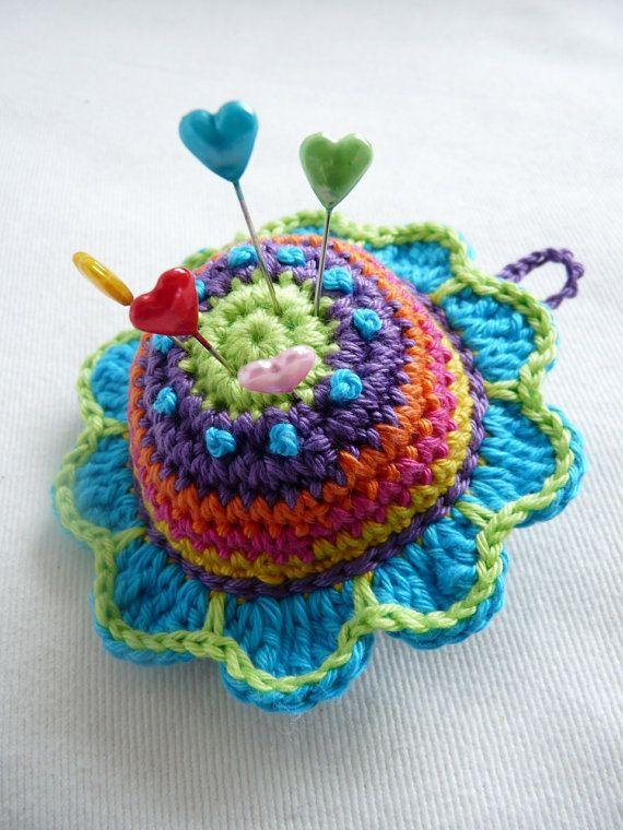 Pattern Pincushion Flower UK Terminology by TeenyWeenyDesign