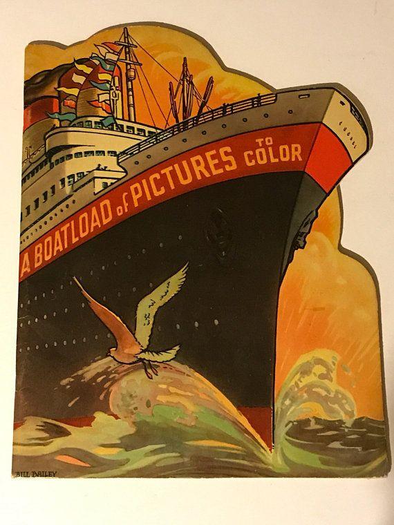 Vintage 1938 Unused Coloring Book