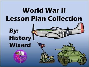 This great lesson plan collection is sure to help your students better understand World War II. This World War II lesson plan collection is perfect for middle school or high school students and includes 6 major webquests, 2 video webquests, 23 worksheets, and a research paper activity.