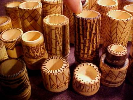 P aurea pyrography bamboo arts and crafts gallery for Crafts using bamboo