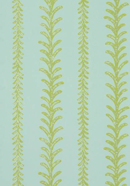 Cantal #wallpaper in #aqua from the Zola collection. #Thibaut #AnnaFrench