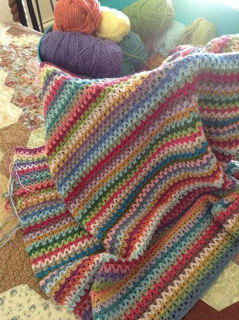 V-Stitch Blanket by angelala242, via Flickr