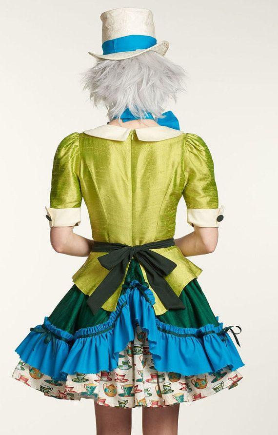 Mad Hatter Costume Alice in Wonderland by HomemadeCraftStudio