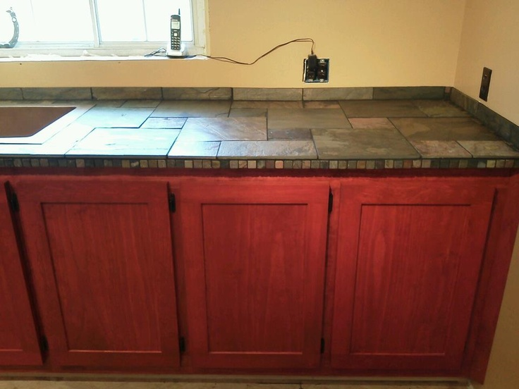 red kitchen cabinets with slate counter & 12 best New Kitchen for Maine images on Pinterest | Kitchen ideas ... kurilladesign.com