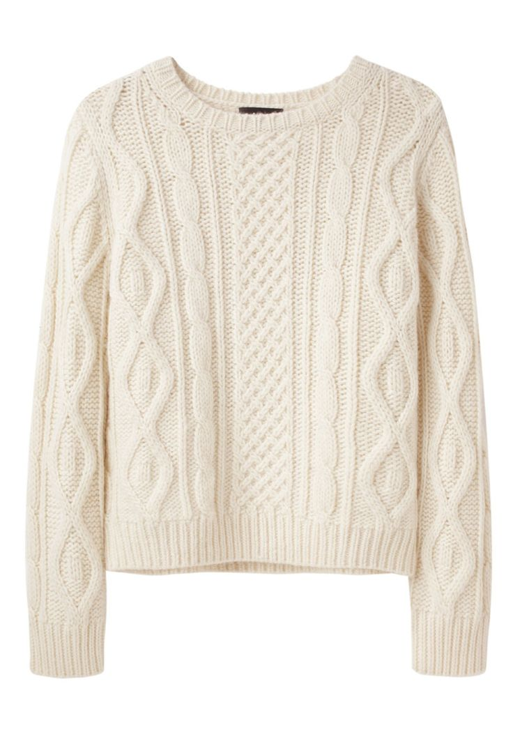 The most perfectly soft cable knit sweater.
