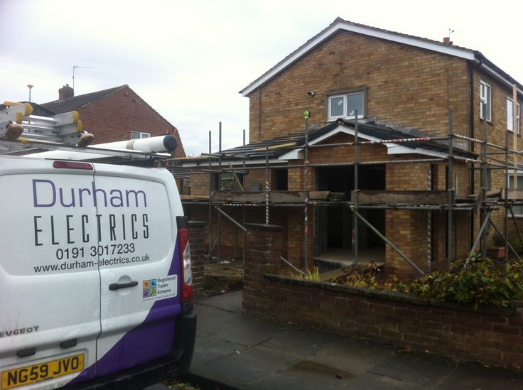 Durham Electrics working with a local property development company. Providing electrical installation for the the extension and upgrade to the kitchen.