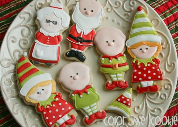 Boy and Girl Elf Cookies with Color Me Cookie {Guest Post} from the Sweet Adventure of Sugarbelle blogsite on December 9, 2013!!!