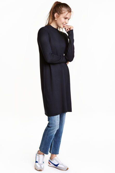 Fine-knit dress