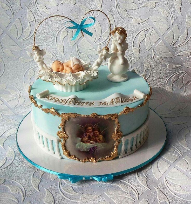 чистом виде торт на крестины с ангелами фото соединяют катетером