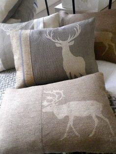 r u s t i c ✜ comfort ~ stag cushions