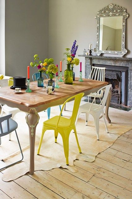 Mismatched and Modern - Dining Room Ideas – Decorating, Design & Wallpaper (houseandgarden.co.uk)