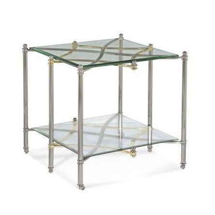 Chrome And Glass End Table TablesLiving Room Tables