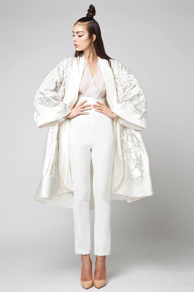 Elio Abou Fayssal Spring 2016 Couture Collection. White outfit // @thirteen02 Thirteen.02 Watches thirteen02.com