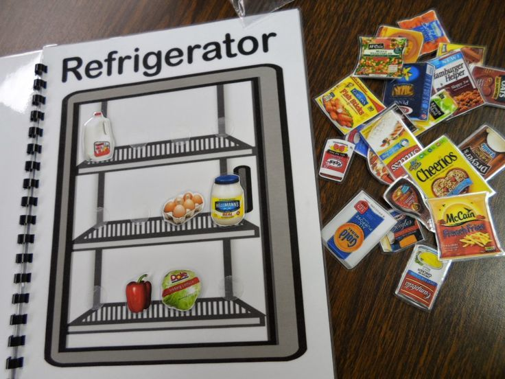 Putting Away Groceries - Life Skills, Interactive Book.  Here is a fun life skills lesson on putting away groceries.  There are 33 food pieces and three options of were you can put them, 12 pantry, 9 freezer, and 12 refrigerator.  Get the free download at:  https://www.teacherspayteachers.com/Product/Putting-Away-Groceries-Activity-Book-1436613…
