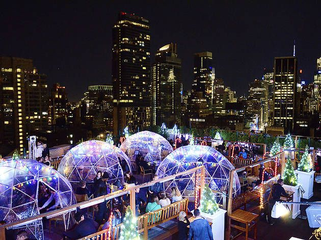 230 Fifth is bringing back its wintertime bubble tents for the season.