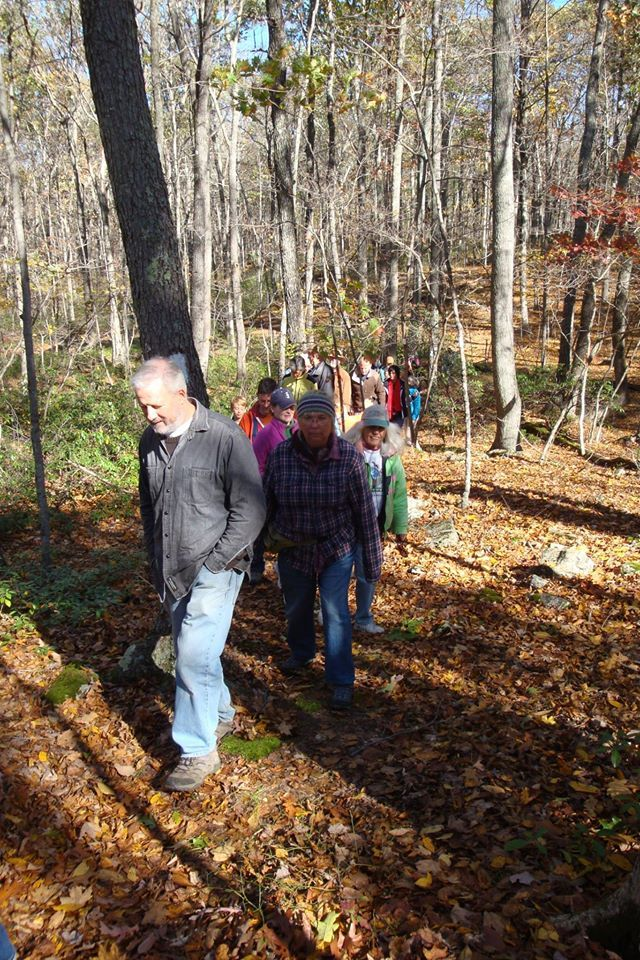 On October 23, 2016, Ashford Conservation Commission led a guided Walk on the newly white blazed Langhammer trail on Ashford town land.