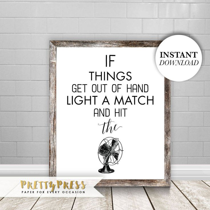 Funny Bathroom Printable, Printable Art, Hit the Fan, Bathroom art, Restaurant decor, Funny bathroom sign, Bathroom decor, Washroom
