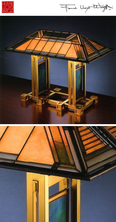 Desk/Table Lamp designed by Frank Lloyd Wright for the Dana Thomas House