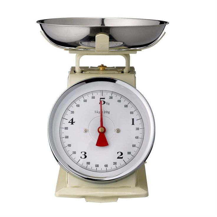 Charm Your Kitchen With This Retro Style Scale Featuring An Og Dial And Food Safe Metal Tray