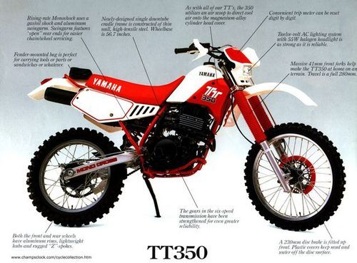 Yamaha Tt350 Factory Repair Manual 1985 2000 Download Yamaha Dirt Bikes Honda Dirt Bike Yamaha