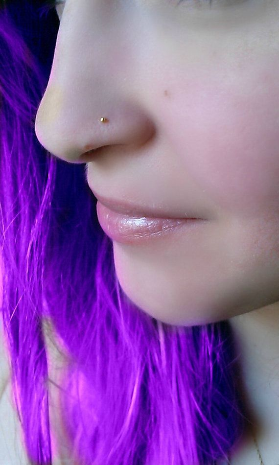 tiny nose studs, for those who like the cute minimalistic style, or for those times when you want your piercing to be more subtle