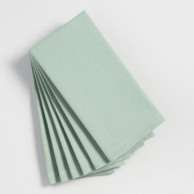 Jadeite Green Buffet Napkins Set of 6 - v1