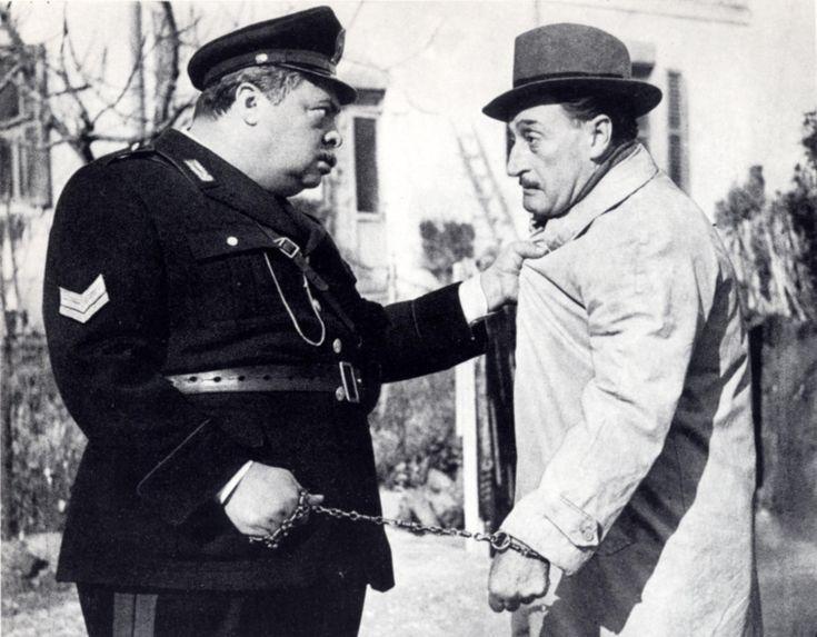 """Aldo Fabrizi e Totò (""""Guardie e Ladri"""" di Steno e Mario Monicelli)"""