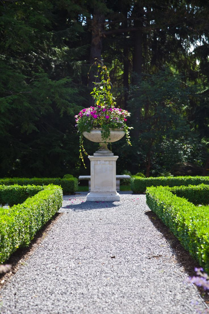 formal english garden planter
