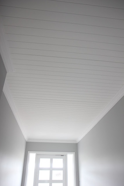 Building Our House of Grey and White:     Lined entrance ceiling
