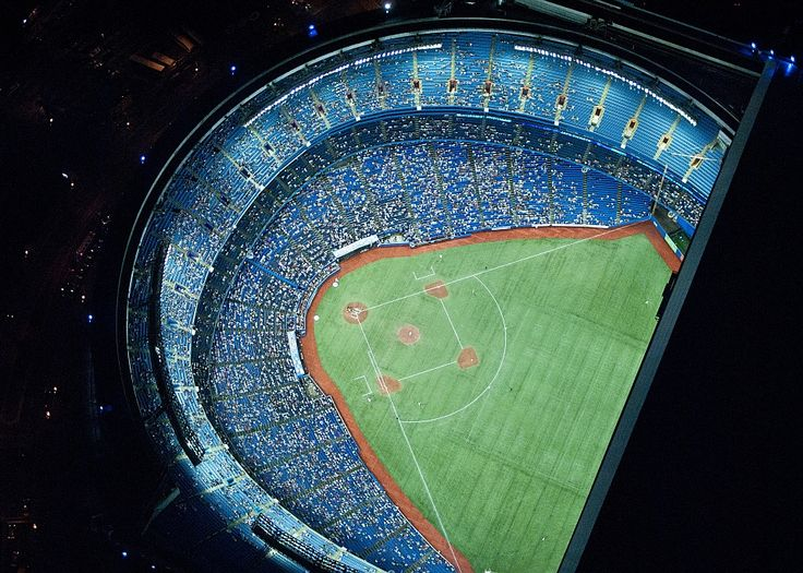 Areal view of rogers center at night, Toronto