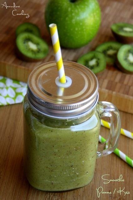 Smoothie à la pomme verte et kiwi