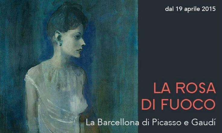 """Ferrara, Palazzo dei Diamanti , Mostra : """"La rosa di fuoco  La Barcellona di Picasso e Gaudí""""  . 19 aprile – 19 luglio 2015  . (maggio 2015)"""