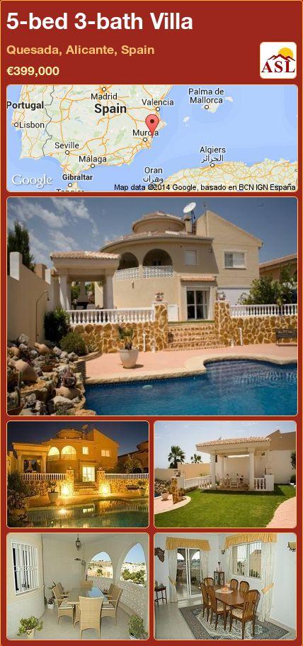 5-bed 3-bath Villa in Quesada, Alicante, Spain ►€399,000 #PropertyForSaleInSpain