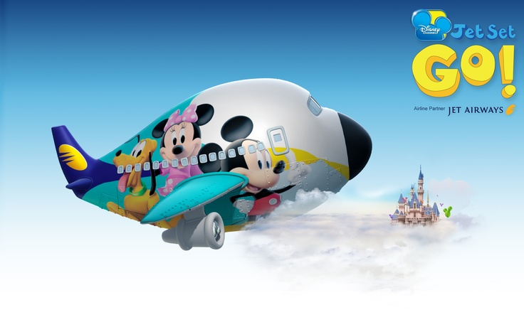 Jet Airways aircraft with your favorite Disney characters