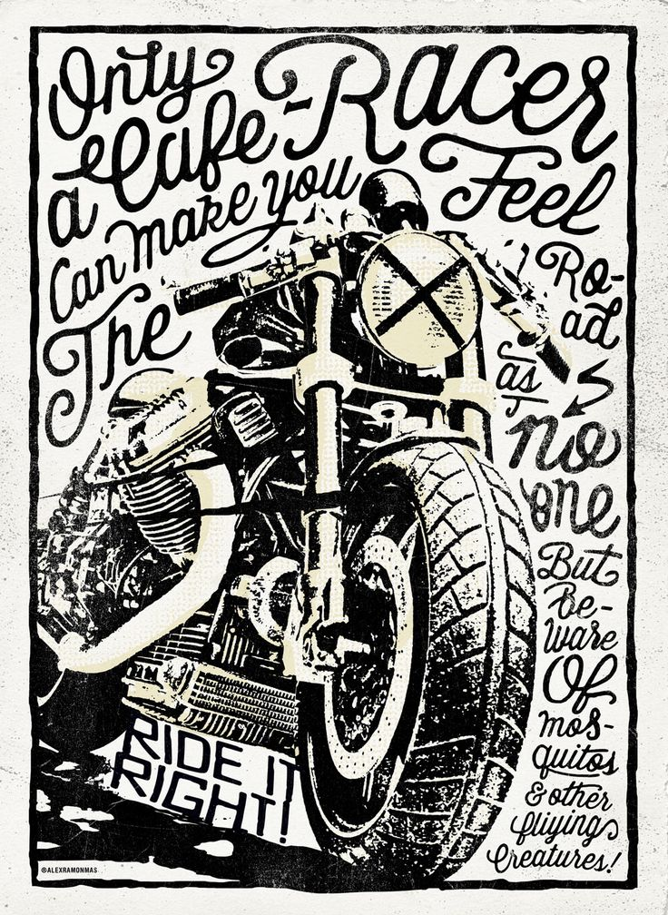 Poster Cafe Racer, for a Constructors Exhibition Alex Ramon Mas Designs ® www.alexramonmas.com