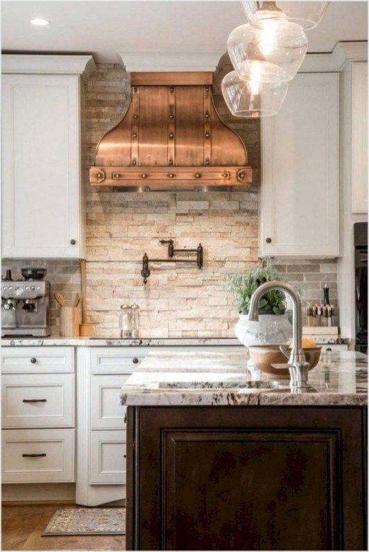 Cute Farmhouse Kitchen Backsplash Ideas 16 French Country