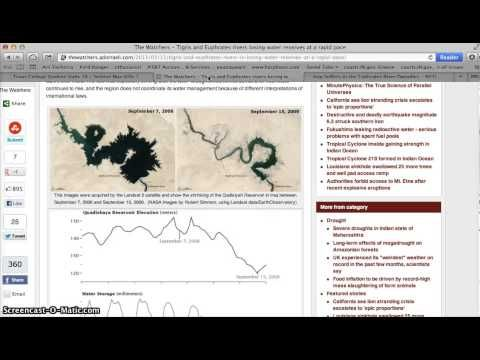▶ The Euphrates River is Drying Up, Fulfilling BIBLE PROPHECY! Revelation 16:12 - YouTube